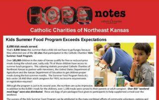 Hope Notes - Enewsletter - August 2016