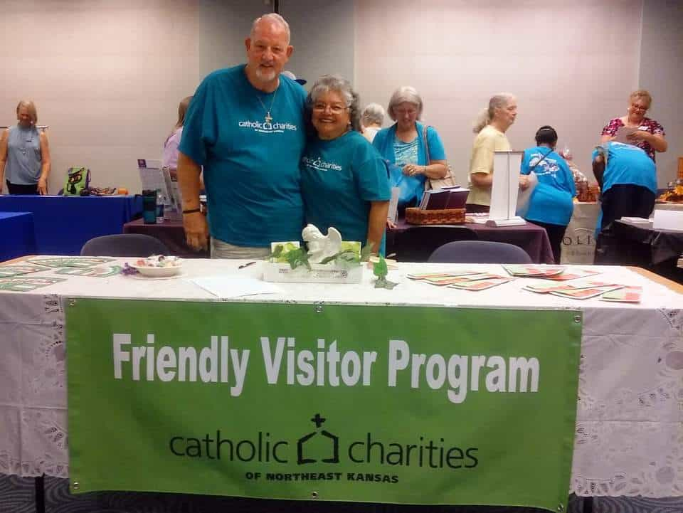 Larry and Sandra Davalos-Lesser, volunteers for Catholic Charities in Topeka