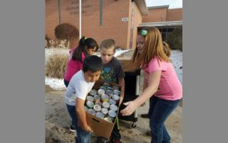 Quincy Elementary School students organize a food drive