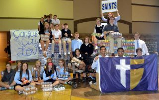 St. Thomas Aquinas food drive photos