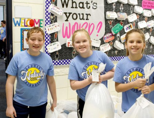 Nativity School Serves Others with Helping Hands & Hearts