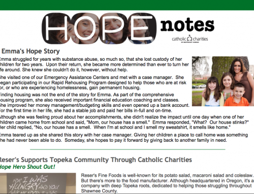 Hope Notes – July 2017 – E-Newsletter