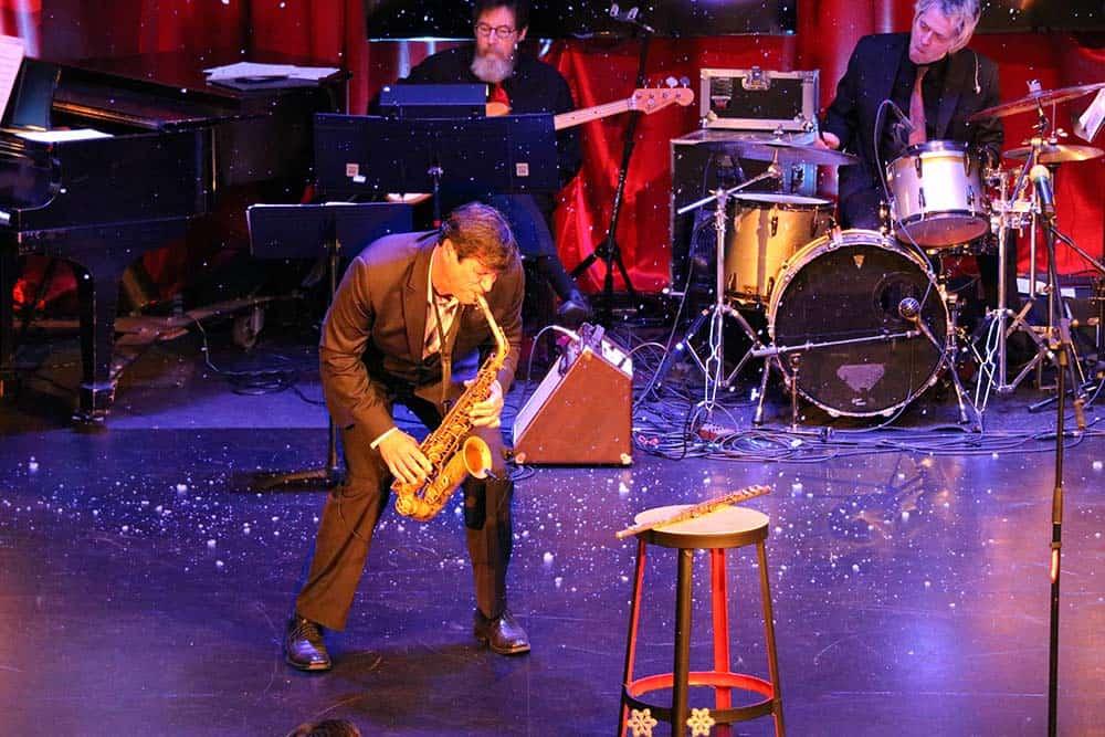 Joseph Vincelli playing saxophone