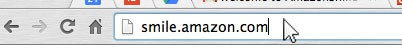 Amazon Smile - browser address field
