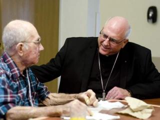 Hospice Patient with Archbishop Naumann