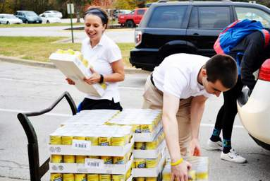 Food Drive - Helping Out