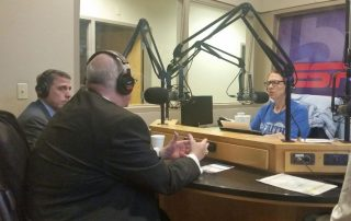 Ken Williams and Archbishop Joseph Naumann on KC Cares radio show