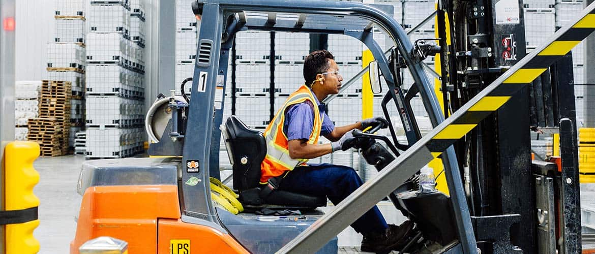 Refugeee Employment Services Man Forklift