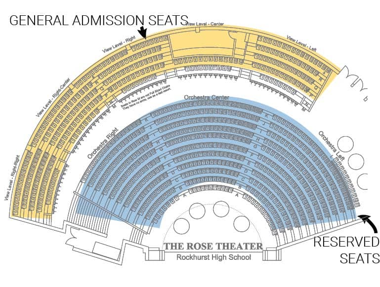 Rose Theatre Seating Map - VIviano Variety Show 2016