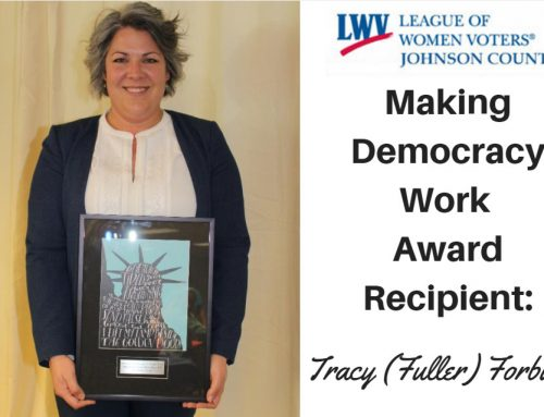 Tracy (Fuller) Forbush Receives Prestigious 'Making Democracy Work' Award