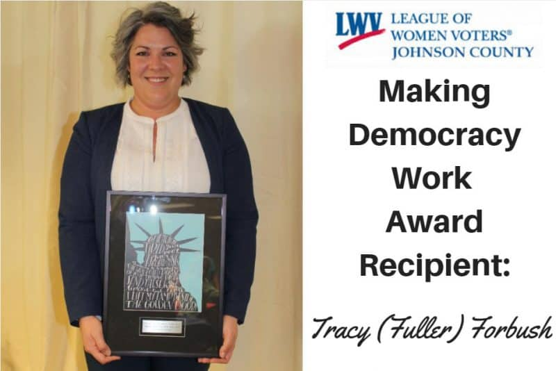 tracy league of women voters award