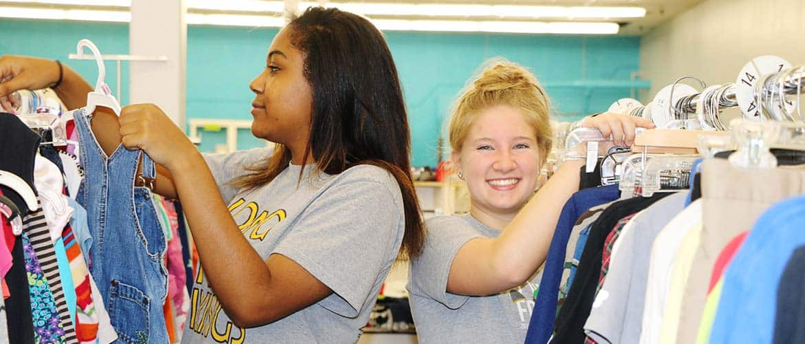 High School Students Volunteering at TurnStyles Thrift Store